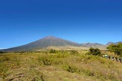 Rinjani mount hiker Stock Image