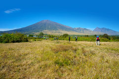 Rinjani mount hiker Royalty Free Stock Photos