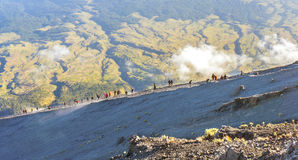 Rinjani mount hikers summit attack Stock Images