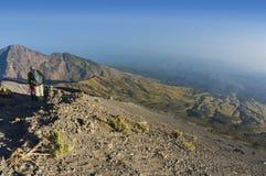 Rinjani mount hikers Royalty Free Stock Photos