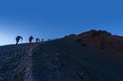 Rinjani mount summit attack Stock Photo