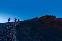 Rinjani mount summit attack Royalty Free Stock Photo