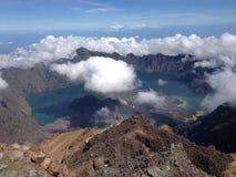 Rinjani Mountain. Beautifule mountain on wonderfullombok  indonesia Royalty Free Stock Photography