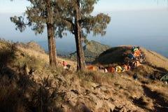 Rinjani Mountain Vulcano Camping. Rinjani Mountain Camping during a Vulcano hike Royalty Free Stock Image