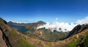 Rinjani Volcano Panoramic View foto de stock