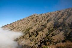 Rinjani wulkanu góry wierzchołka krajobraz, Lombok Indonezja Obraz Stock