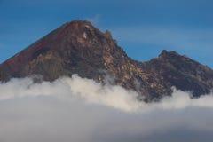 Rinjani wulkanu halny szczyt nad chmura, Lombok wyspa, Wewnątrz Zdjęcie Royalty Free