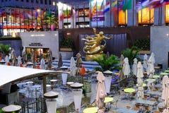 Rink Bar in Rockefeller Center Stock Photos