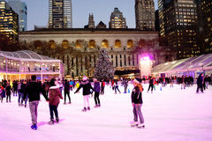 The Rink at Bryant Park Stock Photo
