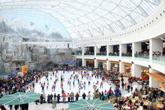 Rink in the mall Royalty Free Stock Photo