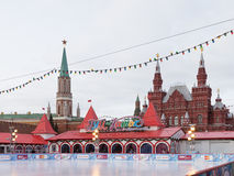 Rink on Red Square Stock Image