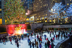 The Rink Rockefeller Center Stock Images