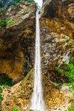 Rinka vattenfall i logarskadolinadalen - Slovenien fotografering för bildbyråer