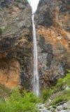 Rinka vattenfall, Logar dal, Slovenien Royaltyfria Foton