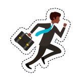 rinnande avatarsymbol för businessperson royaltyfri illustrationer