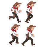 Rinnande cowboy Sprite Royaltyfri Fotografi