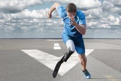 Rinnande landningsbana för idrottsman nen