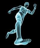 Rinnande människokropp vektor illustrationer