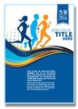 Rinnande maraton, folktecken, körning Royaltyfri Bild