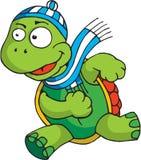 Rinnande sköldpadda Arkivfoto
