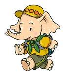 Rinnande små behandla som ett barn elefanten spana royaltyfri illustrationer