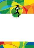 Rinnande sportbakgrund Arkivfoton