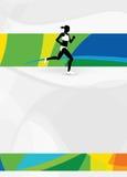 Rinnande sportbakgrund Arkivfoto