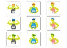 Rinnande symboler för man som springer att jogga, Arkivbild