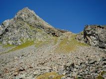 Rinnenspitze山在Stubai阿尔卑斯 免版税库存照片
