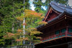 Rinnoji temple in Nikko Stock Photos