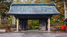 Rinnoji Temple Gate. Rinnoji is Nikko's most important temple, founded by Shodo Shonin, the Buddhist monk who introduced Buddhism to Nikko Stock Image
