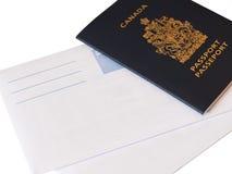Rinnovamento canadese del passaporto Fotografia Stock Libera da Diritti