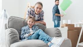 Rinnovamento della casa di famiglia immagini stock