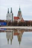 Rinnovamento della torre di chiesa Fotografia Stock