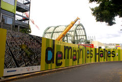 Rinnovamento di Les Halles a Parigi, giugno 2011 Fotografia Stock Libera da Diritti