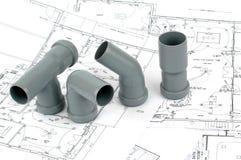 Rinnovamento di Throom, montaggi del PVC per grenaggio Fotografia Stock