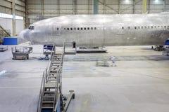 Rinnovamento di un aeroplano Fotografia Stock