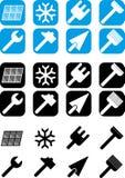 Rinnovamento - insieme delle icone fotografie stock libere da diritti