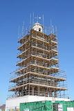 Rinnovamento storico della torre di orologio Fotografia Stock Libera da Diritti