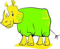 Rinoceronte royalty illustrazione gratis