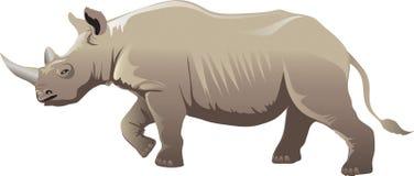 Rinoceronte africano, animale selvaggio africano di vita del rinoceronte - illustrazione di vettore illustrazione di stock