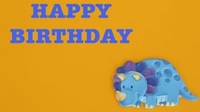 Rinoceronte azul no fundo alaranjado ilustração royalty free