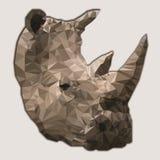 Rinoceronte baixo poli Foto de Stock Royalty Free