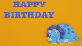 Rinoceronte blu su fondo arancio royalty illustrazione gratis
