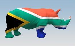 Rinoceronte coloreado en la bandera África libre illustration