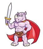 Rinoceronte com uma espada Foto de Stock