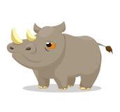 Rinoceronte così sveglio Fotografie Stock