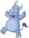 Rinoceronte da dança Imagens de Stock Royalty Free