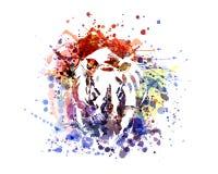 Rinoceronte da ilustração de cor do vetor Foto de Stock Royalty Free