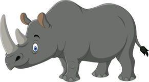 Rinoceronte de la historieta aislado en el fondo blanco Imagen de archivo